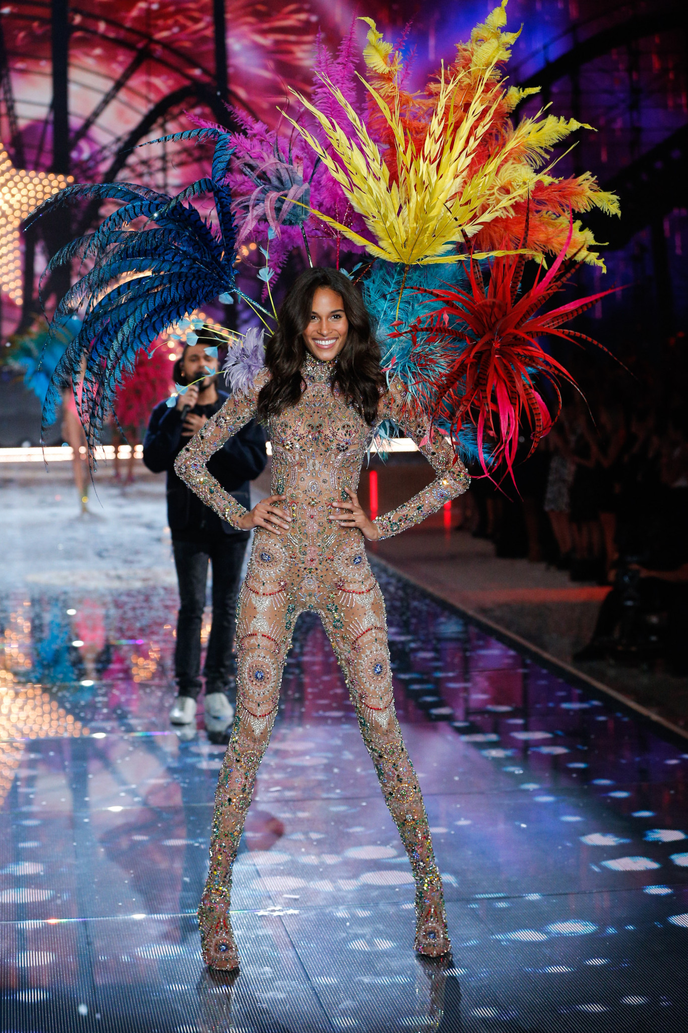 Cindy Bruna walks the runway at the 2015 Victoria's Secret Fashion Show in New York City on November 10th, 2015
