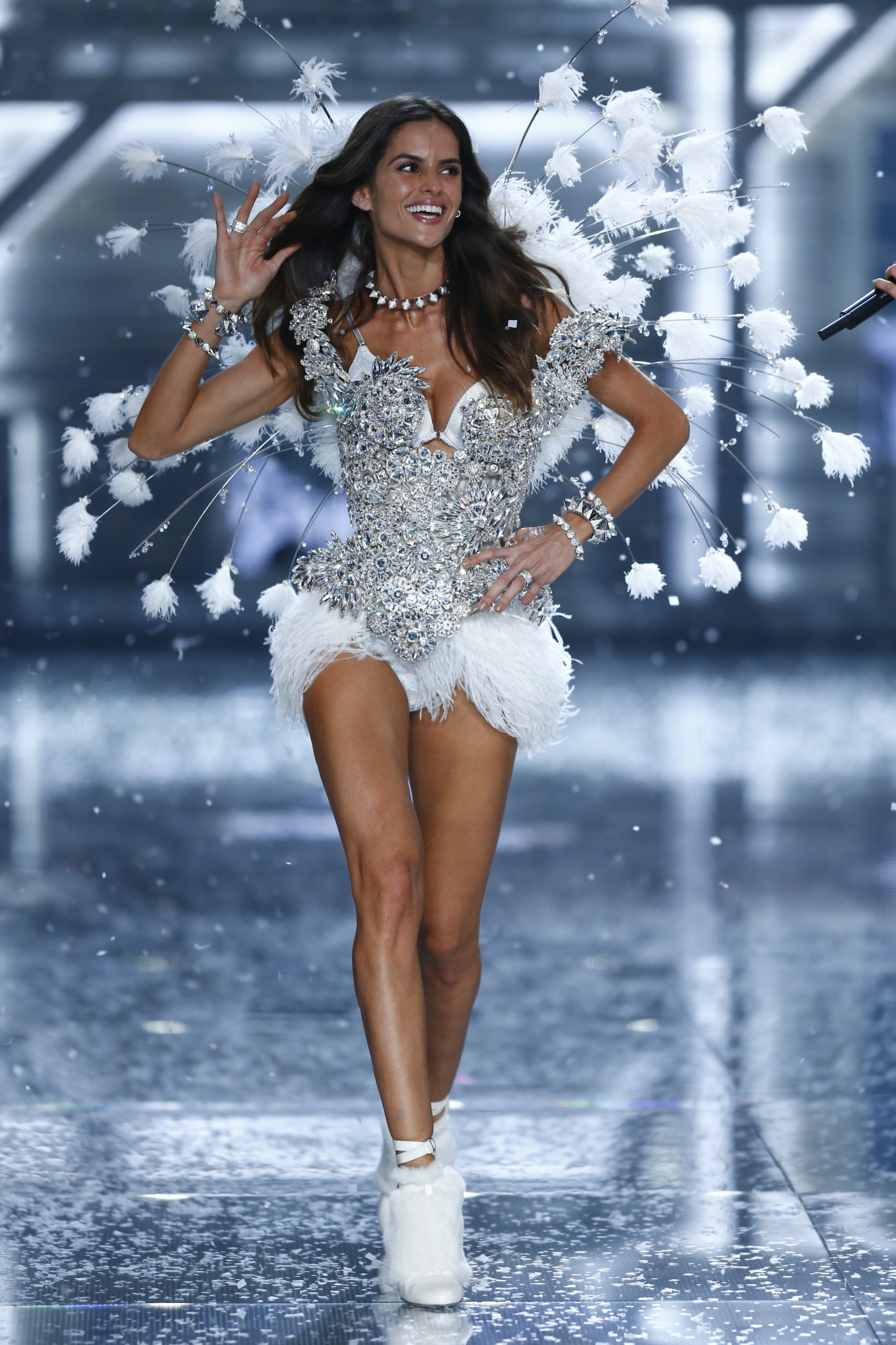 Model Izabel Goulart walks the runway during the 2015 Victoria's Secret Fashion Show at Lexington Avenue Armory on November 10, 2015 in New York City.