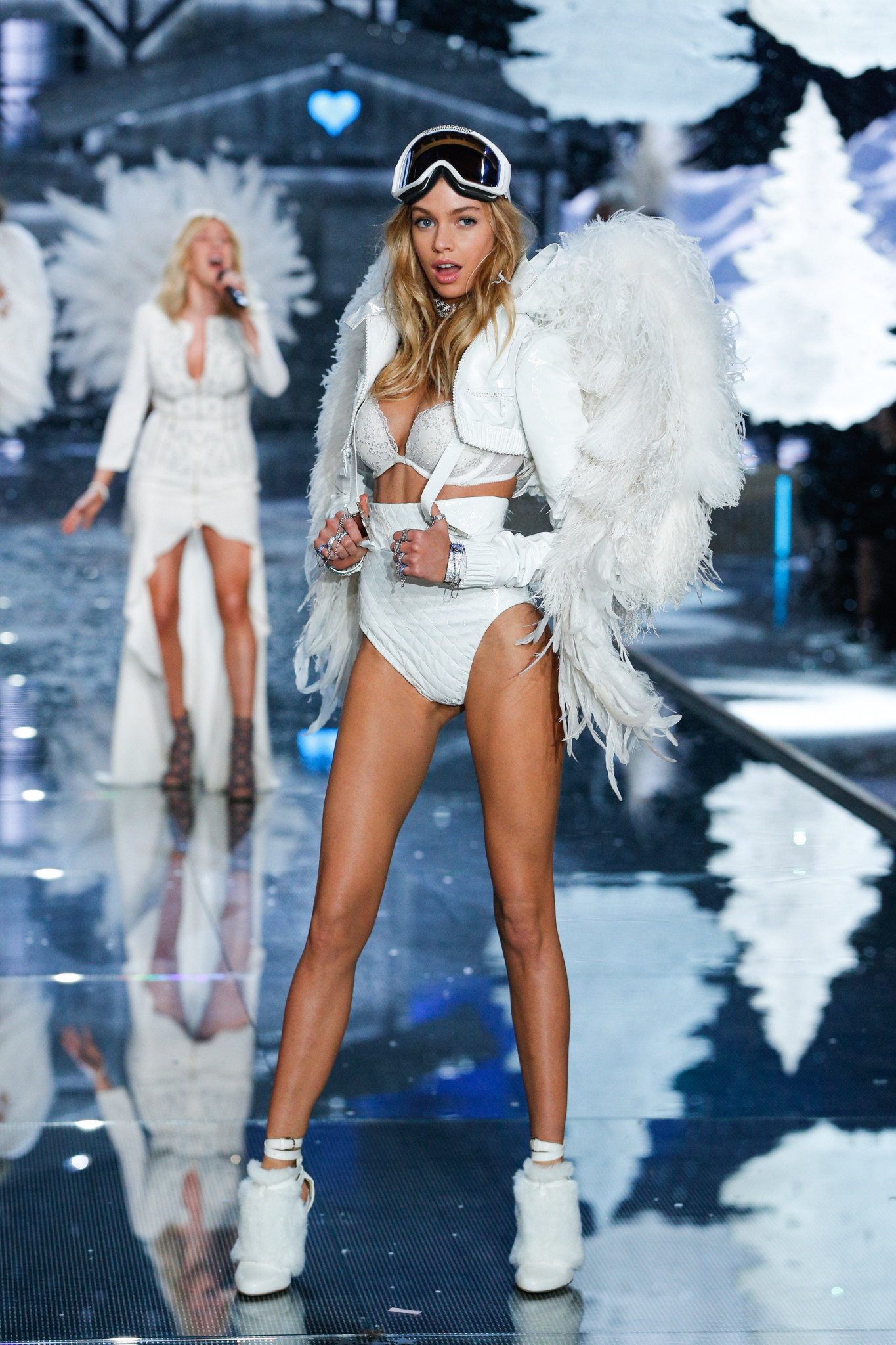 Stella Maxwell walks the runway at the 2015 Victoria's Secret Fashion Show in New York City on November 10th, 2015
