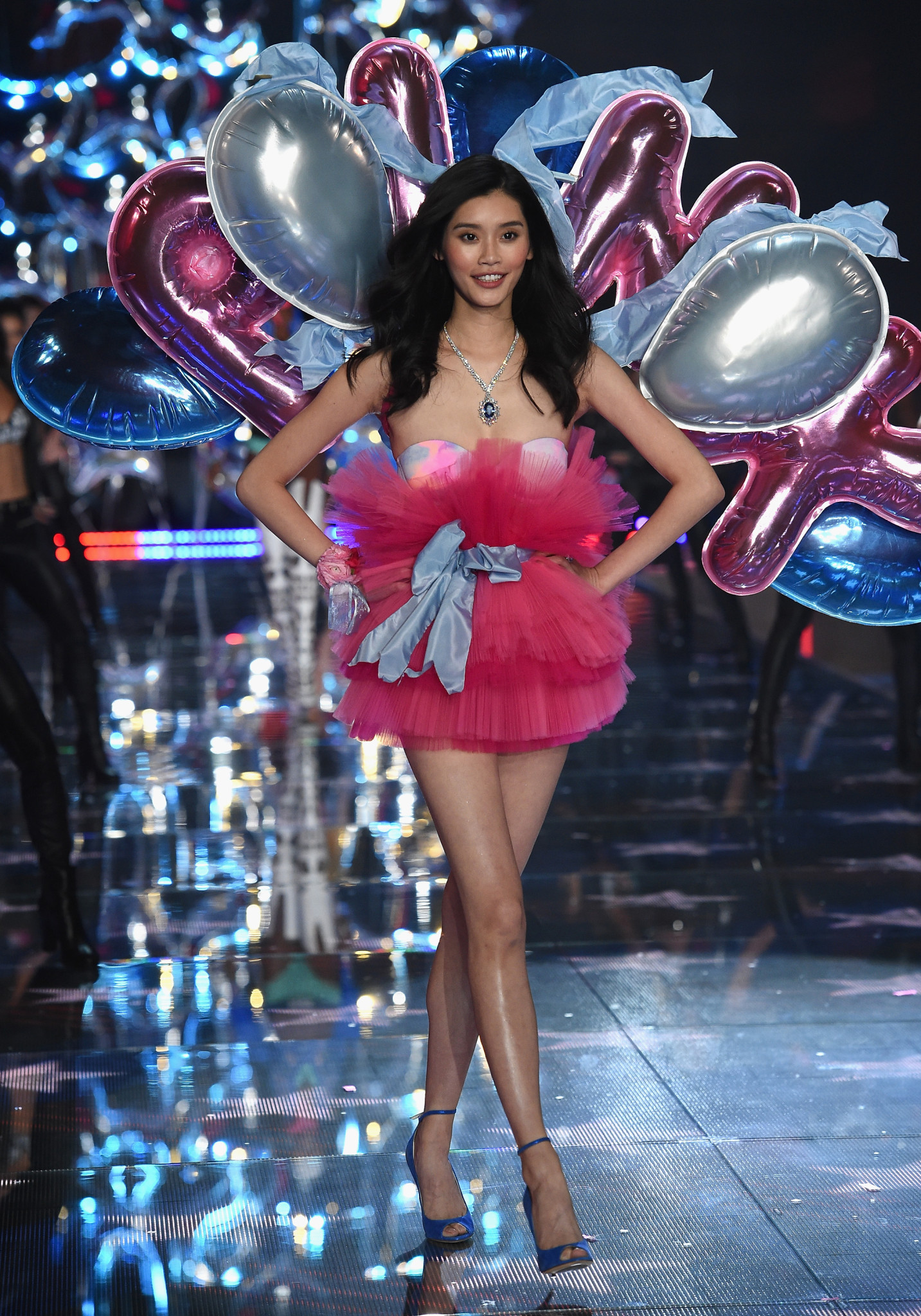 NEW YORK, NY - NOVEMBER 10: Model Ming Xi from China walks the runway during the 2015 Victoria's Secret Fashion Show at Lexington Avenue Armory on November 10, 2015 in New York City. (Photo by Dimitrios Kambouris/Getty Images for Victoria's Secret) *** Local Caption *** Ming Xi