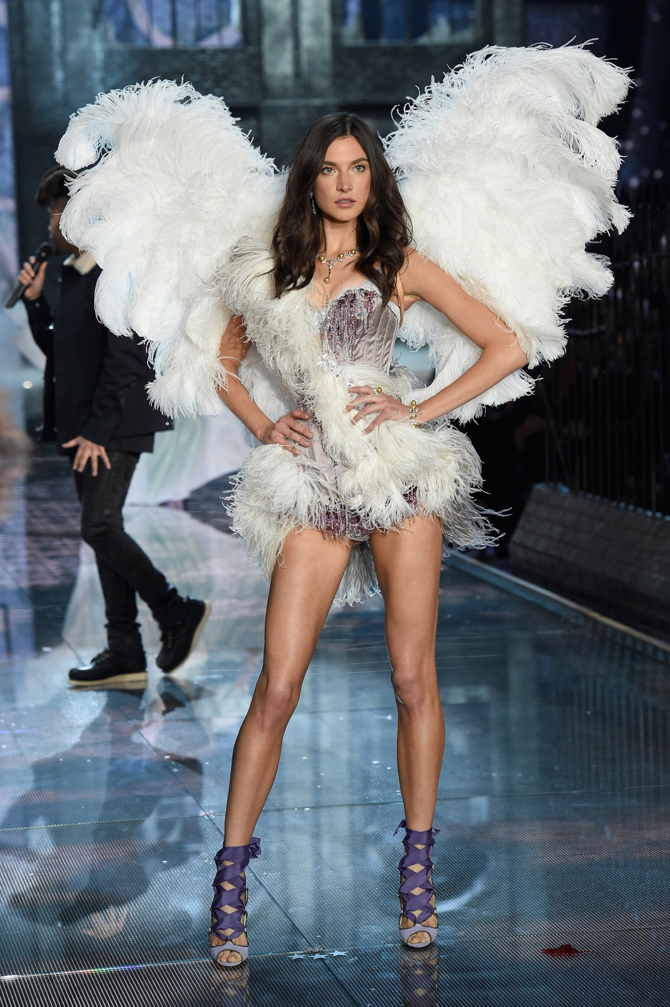 NEW YORK, NY - NOVEMBER 10: Model Jacqueline Jablonski walks the runway during the 2015 Victoria's Secret Fashion Show at Lexington Avenue Armory on November 10, 2015 in New York City.