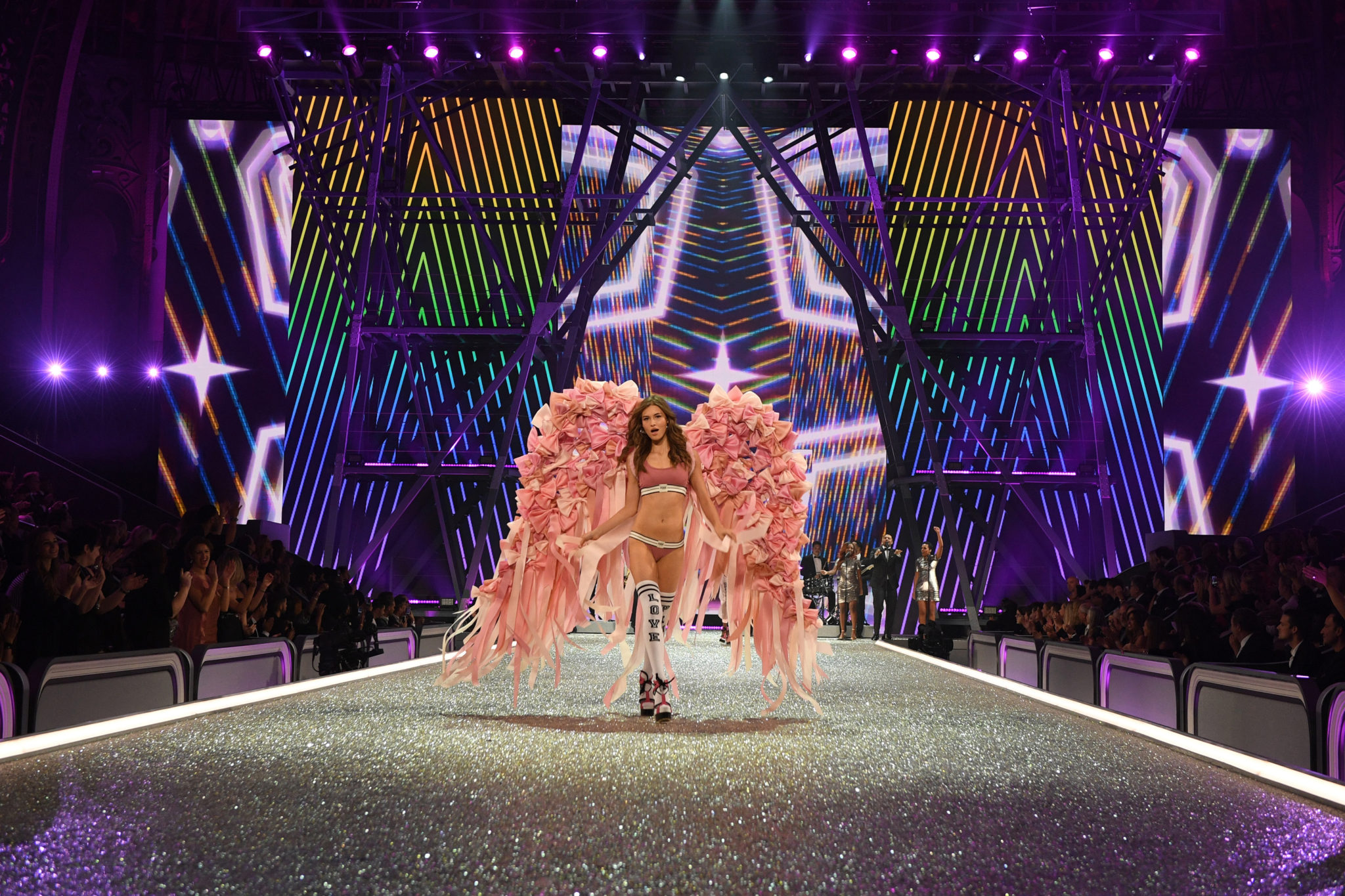 PARIS, FRANCE - NOVEMBER 30: Grace Elizabeth walks the runway during the 2016 Victoria's Secret Fashion Show on November 30, 2016 in Paris, France. (Photo by Dimitrios Kambouris/Getty Images for Victoria's Secret)