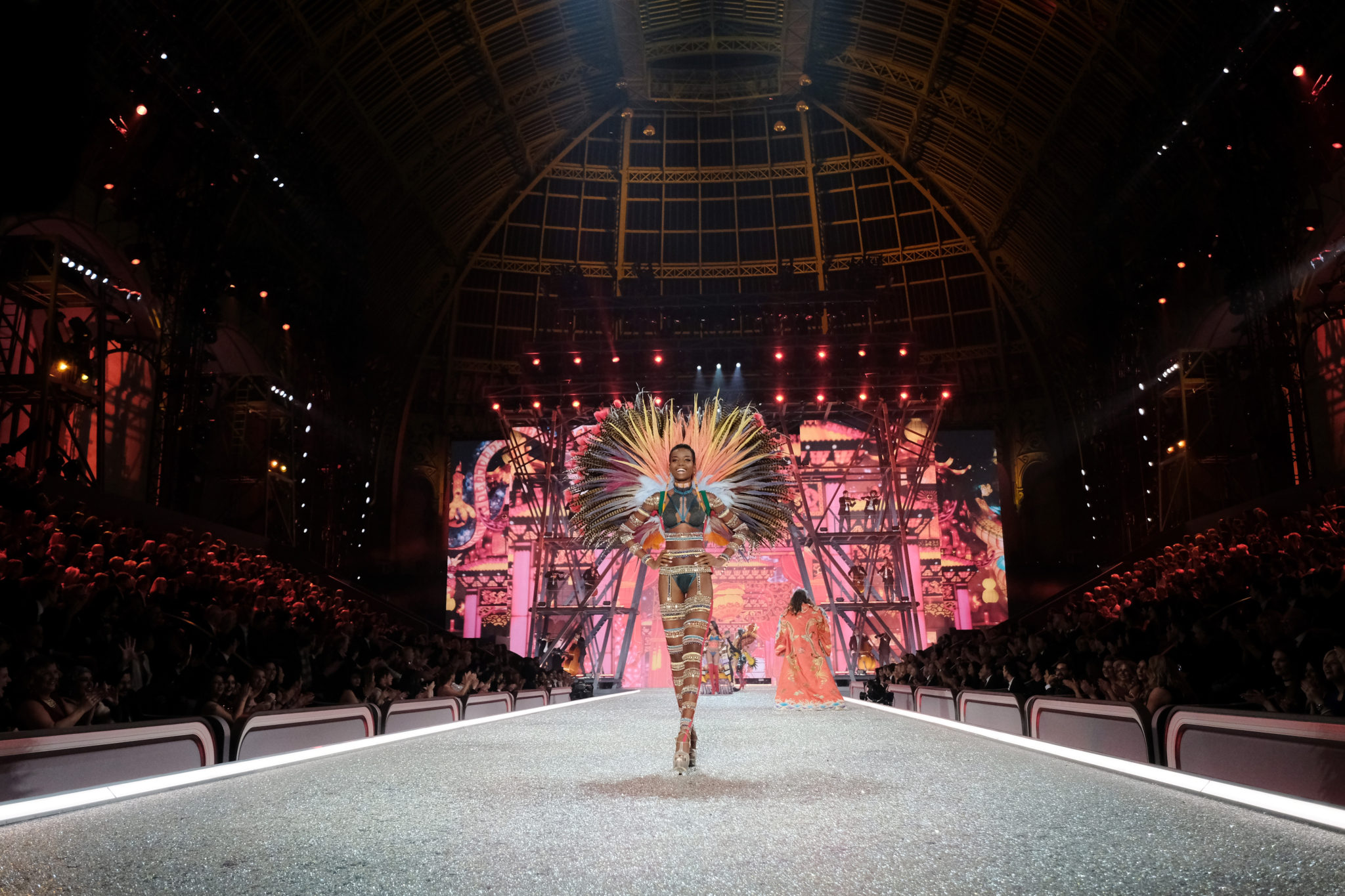 PARIS, FRANCE - NOVEMBER 30: Maria Borges walks the runway during the 2016 Victoria's Secret Fashion Show on November 30, 2016 in Paris, France. (Photo by Dimitrios Kambouris/Getty Images for Victoria's Secret)