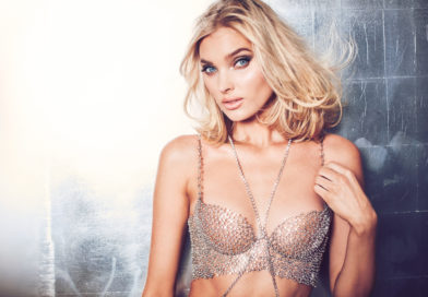 Elsa Hosk wearing the 2018 Victoria's Secret Fantasy Bra.